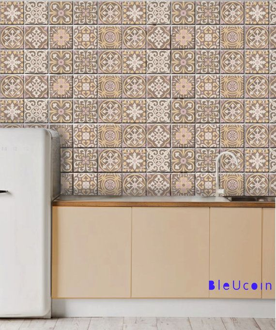 Best 25 beige tile bathroom ideas on pinterest beige for Kitchen cabinets lowes with removable floor tile stickers