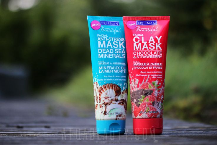 Freeman • Dead Sea Minerals Facial Anti-Stress Mask & Chocolate & Strawberry Detoxifying Mask