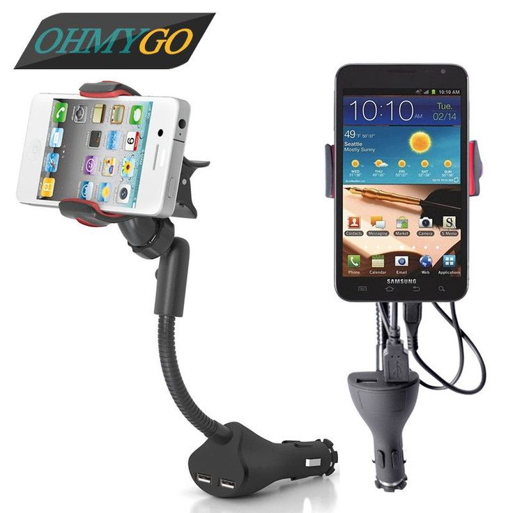 Universal Car Phone Holder With Dual USB Charger For Iphone Samsung Galaxy Note Xiaomi GPS Support Mobile Phone Mount Stand