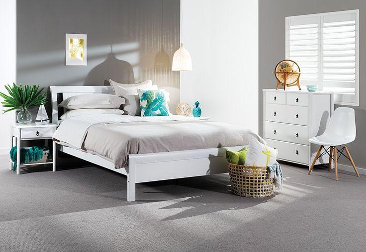 Katie 4 Piece Tall Chest Queen Bedroom Suite | Super Amart