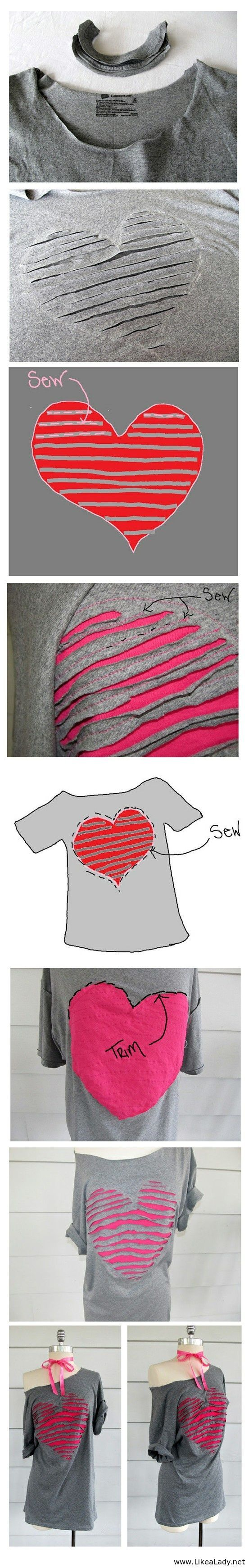 It might be fun to do just the heart part, or any shape for that matter... It would be a great gift idea for my sis.