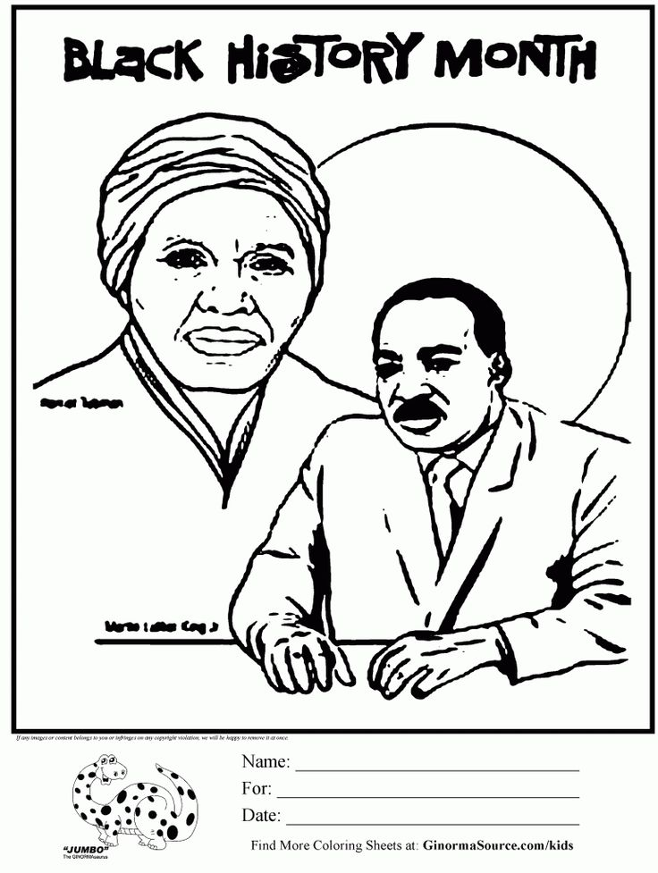 Black history month coloring page black history month for Black history month coloring page