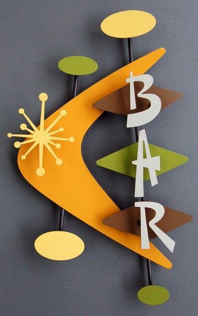 retro bar sign