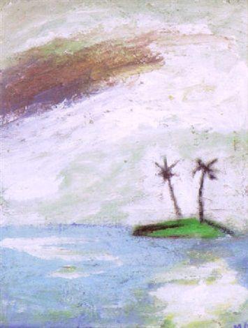 Mauno Markkula: Yksinäinen saari, öljy kankaalle, 27x35 cm - Artnet