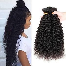 No Tangle & No Shedding Deep Curly Peruvian 3Bundles Hair Extensions
