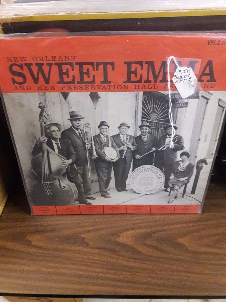NEW ORLEANS' SWEET EMMA AND HER PRESERVATION HALL JAZZ BAND - Vinyl LP RARE