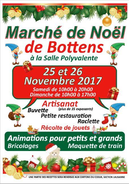 Rendez-vous au Marché de Noël de Bottens le 25 et 26 novembre 2017