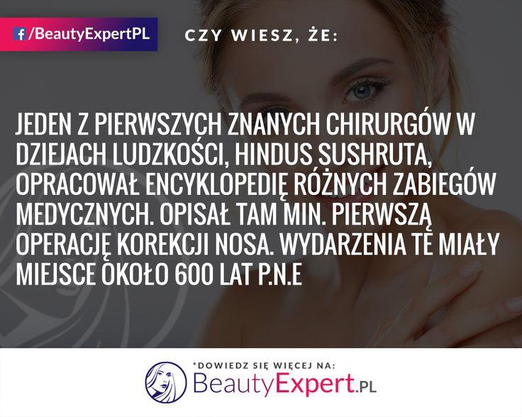 Wyobrażacie sobie jak w tamtych czasach musiała wyglądać plastyka nosa? :) #BeautyExpert #OperacjePlastyczne #PlastykaNosa #Rhinoplastyka #KorektaNosa