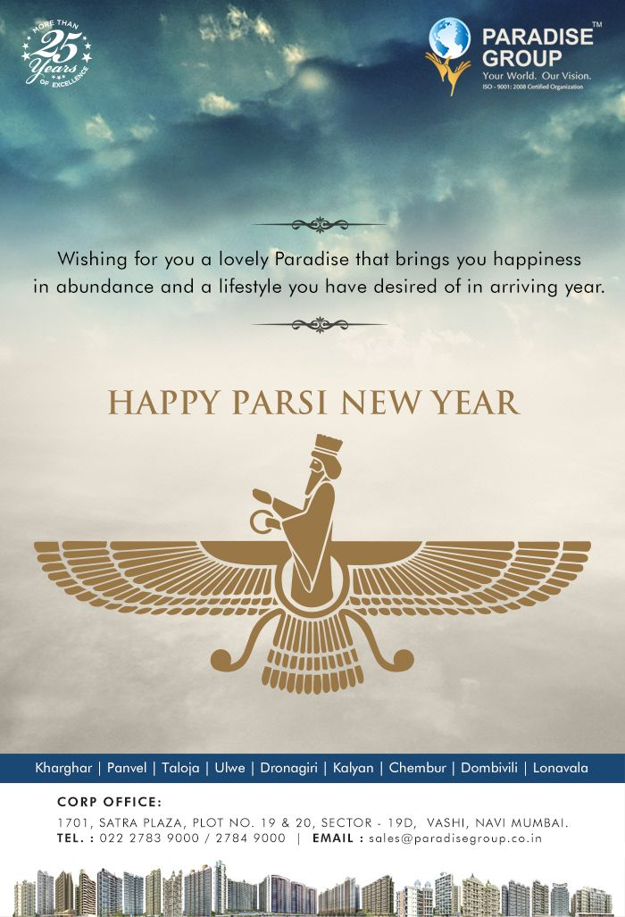 Paradise Group wishes you all a very Happy Parsi New Year www.paradisegroup.co.in #ParsiNewYear2016 #Celebration #Occasion
