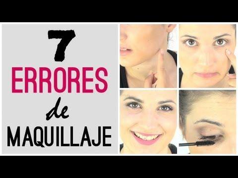 ▶ 7 errores de maquillaje: cómo corregirlos y evitarlos - YouTube