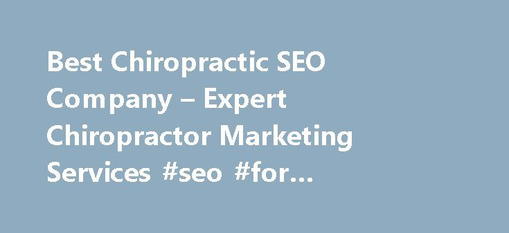 Best Chiropractic SEO Company – Expert Chiropractor Marketing Services #seo #for #chiropractors http://pet.nef2.com/best-chiropractic-seo-company-expert-chiropractor-marketing-services-seo-for-chiropractors/  # Why SEO Is Important For A Chiropractor When people type in chiropractor in a search engine, there are potentially millions of search results. Without utilizing SEO, your website may never appear in search engine results for local chiropractors. Your website might not even be visible…