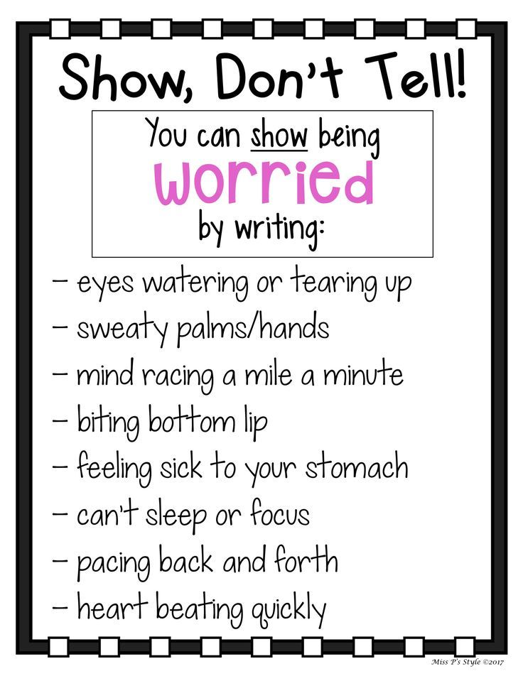 Show Don T Tell Charts With Images Book Writing Tips Writing
