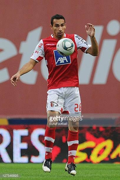 Paulo Vinícius of SC Braga in action during the Liga Portugal match between SC Braga and CD Nacional at the Estadio Municipal de Braga on September...