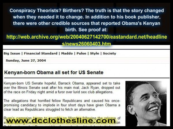 Flashback 2004: Kenyan Newspaper Innocently Reported that Senator Obama Was Born in Kenya Posted on May 17, 2014 by Dean Garrison