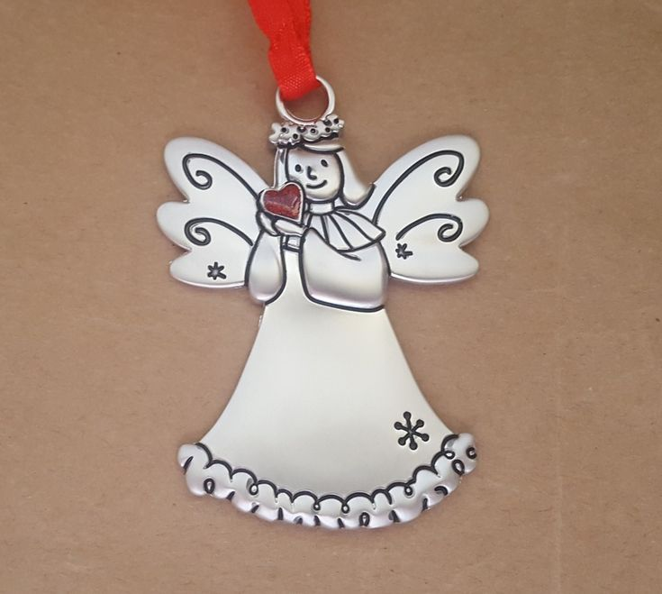 Christmas Ornament - ANGEL HEART - Personalised