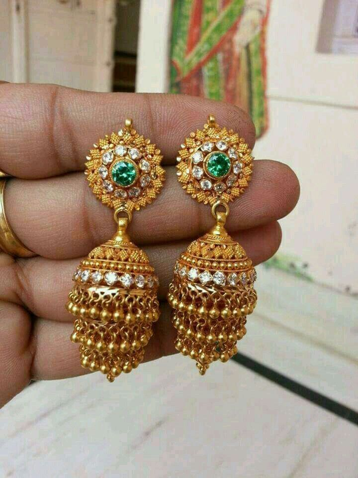 50fde4769ae64 Pin by Chaithra Shetty on Gold in 2019 | Jewelry, Jumka earrings ...