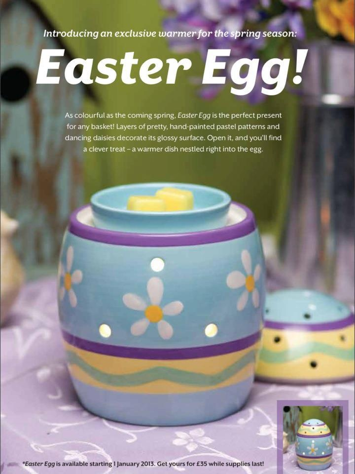 Easter Egg warmer.. take the lid off and it's a beautiful pastel shade warmer for all year round :-)