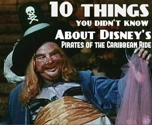 10 things you didn't know about the Pirates of the Caribbean ride! #Disney