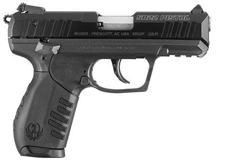 Ruger SR22 Pistol. I love this gun! Great for practicing.