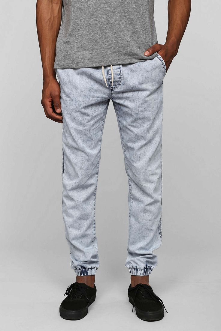 Your Neighbors Bleach Denim Jogger Pant - Urban Outfitters