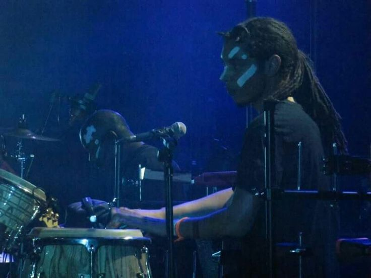 Paulo Goude at Cactus Festival, Grace Jones, Brugge, Belgium July 2015