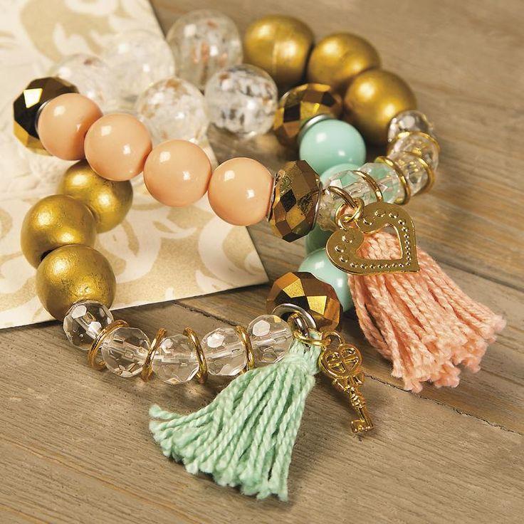 Beaded Tassel Bracelet Idea Learn how