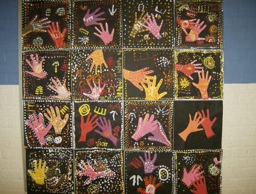 Aboriginal art from Australia for grade two social studies