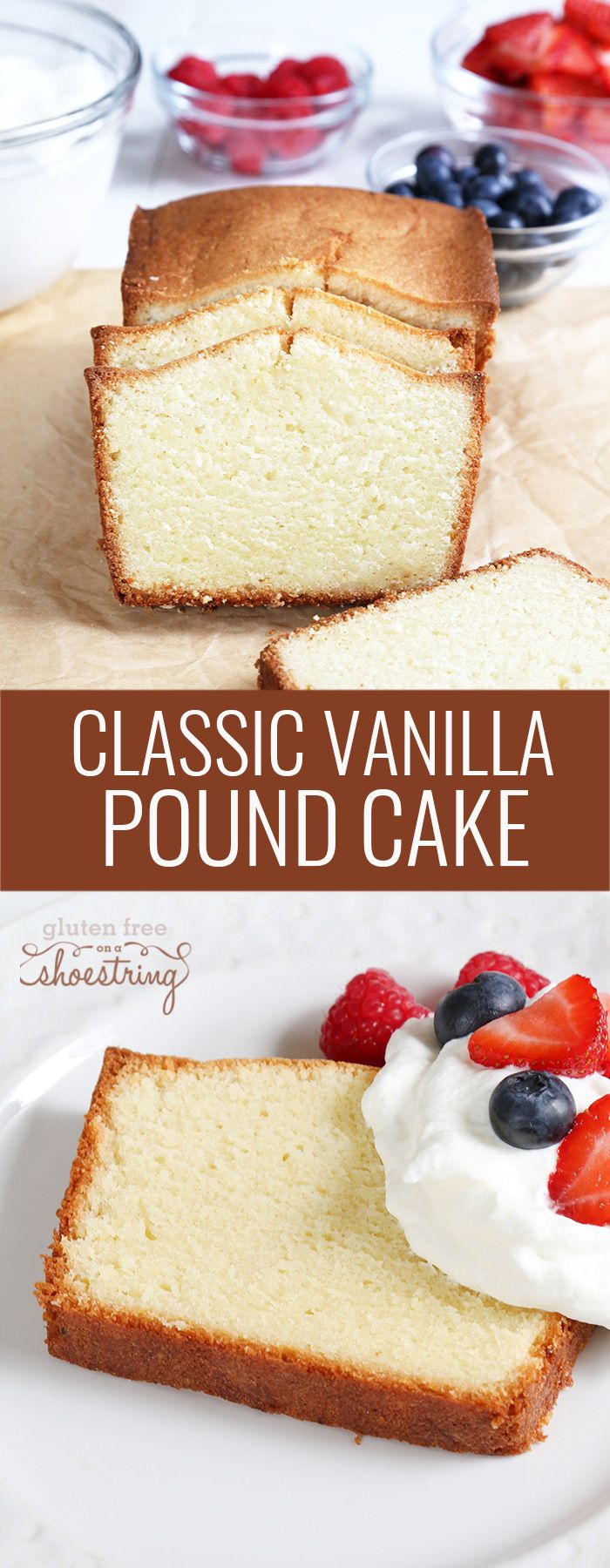 This tested recipe for traditional gluten free pound cake is the moist and tender, dense and buttery, just like you remember. It always gets rave reviews!