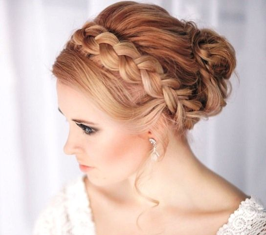 Braided Crown Wedding Hairstyle: Braided Hairstyles, Hair Styles, Loose