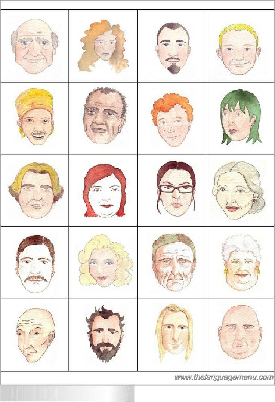 Bingo - jeu avec des descriptions physiques - make black and white copies for students but put a color copy on the projector