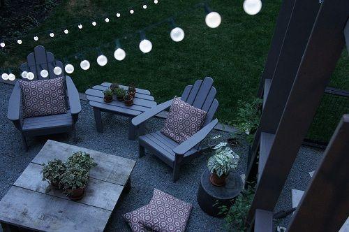 pea gravel patio: Backyard Ideas, Garden Ideas, Backyard Patio Firepit, Outdoor Living, Backyard 2015, Backyard Lights, Patio Table, Outdoor Spaces, Patio Ideas