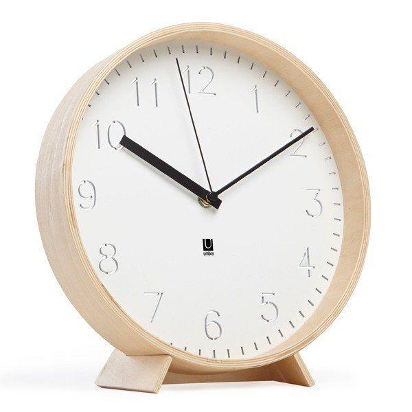 Rimwood Wall/Mantel Clock | White