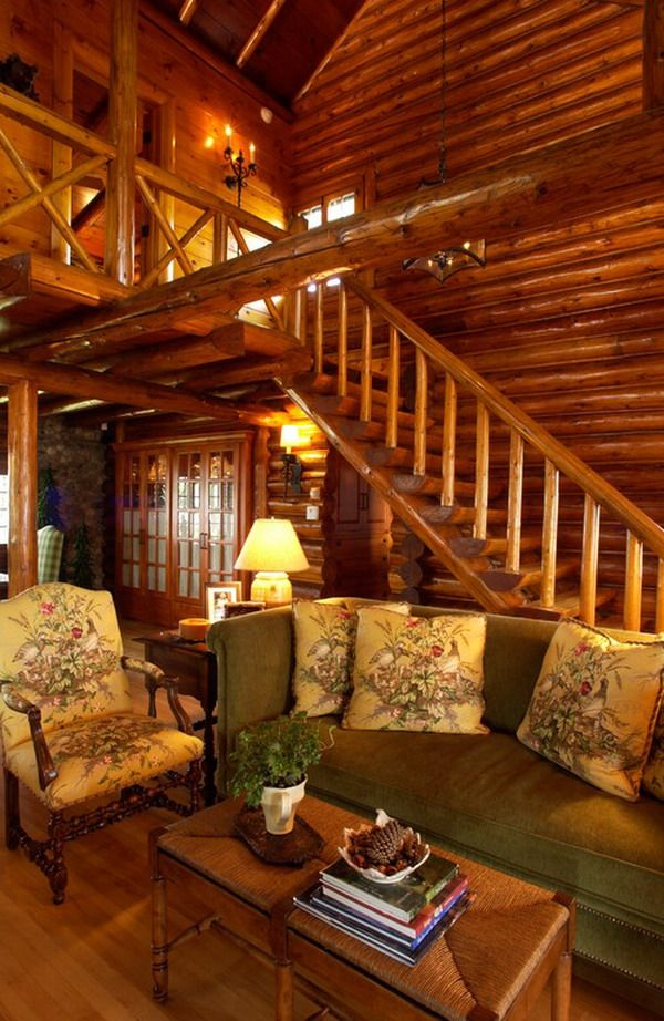 Finest Natural Look Of Log Home Interior Design Get Hundreds Of Designs And  Decor Ideas For The With Log Interior Design.