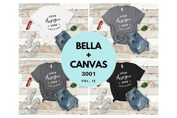 Download Bella Canvas Tshirt Mockup Bundle 15 Tshirt Mockup Shirt Mockup Design Mockup Free