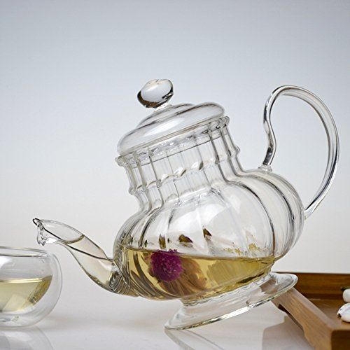 Heatresistant glass teapot lamp gift pot of tea filter kettle >>> You can get additional details at the image link.