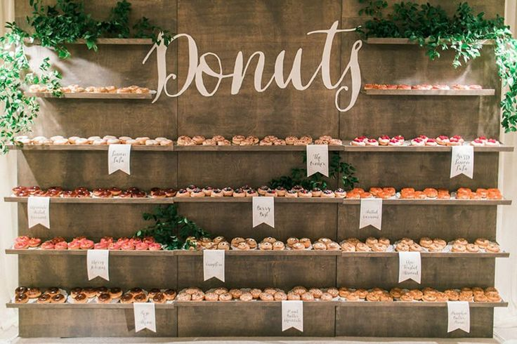 My Wedding: 12 Ideas for Donut Walls & Displays