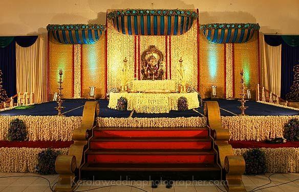 Kerala Hindu Wedding Stage