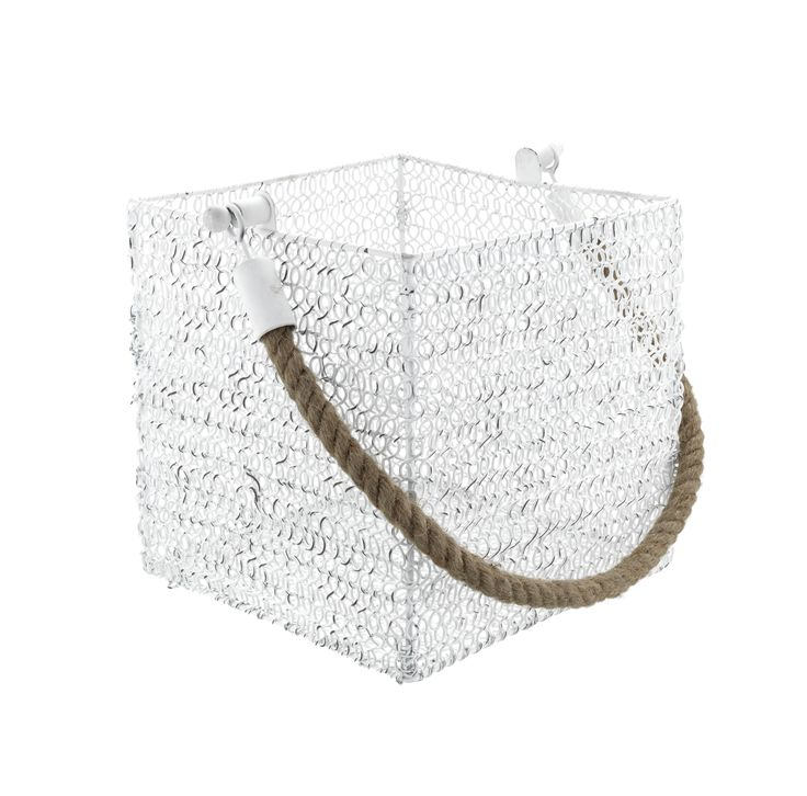Take the nautical look up a notch with this characterful storage basket, woven to look just like a fishing pot. Priced at £10.