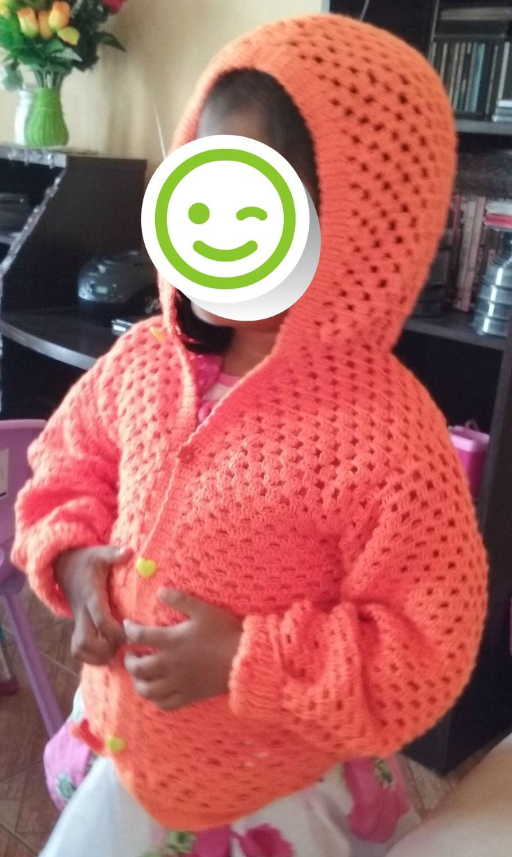 chaleco crochet naranja