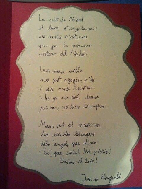 Poema de Nadal de la Joana Raspall