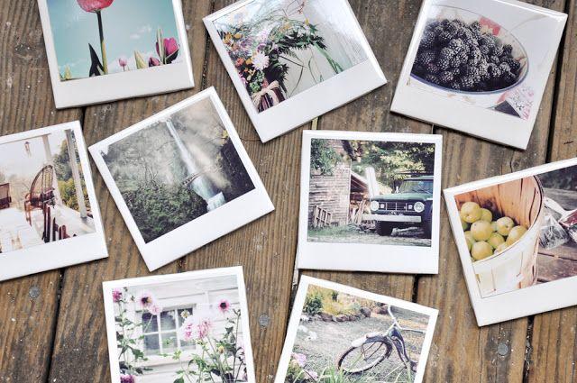 DIY: faux polaroid coasters