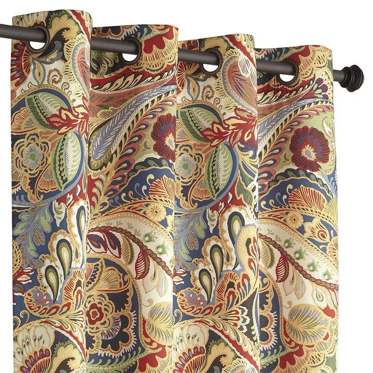 "Vibrant Paisley 120"" Grommet Curtain"