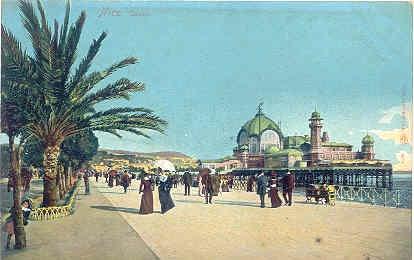 Autochrom Postcard - Nice - Casino , c1910