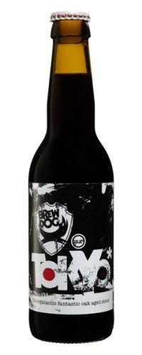Cerveja BrewDog Tokyo, estilo Wood Aged Beer, produzida por BrewDog, Escócia. 18.2% ABV de álcool.