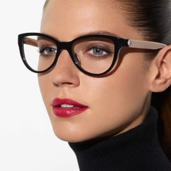 37181812da TWO-TONED CHANEL CAT-EYE GLASSES IN BLACK AND BEIGE ACETATE WITH DOUBLE C  LOGO AT TEMPLES. AVAILABLE AT OPTICAL SHOP OF ASPEN 760.568.9333 - Yelp
