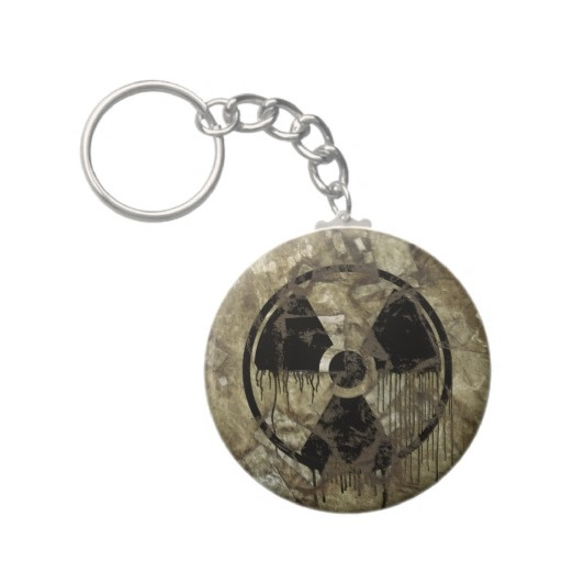 AFTERMATH KEYCHAINS. A Post-apocalyptic, fully customizable design by BannedWare.