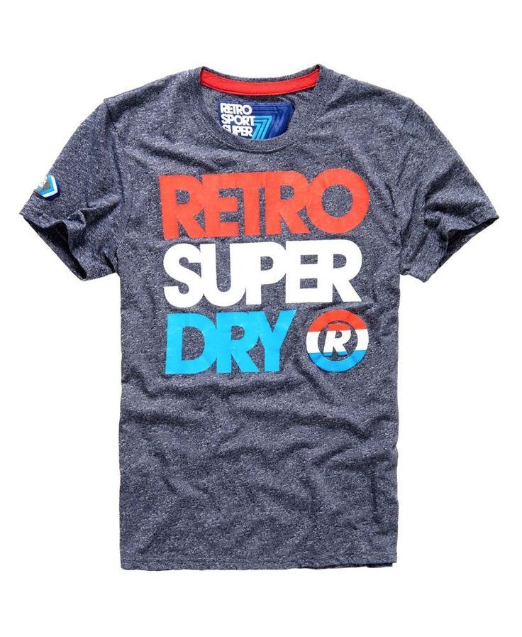 Superdry - Retro Sdry Entry Tee Navy Grit