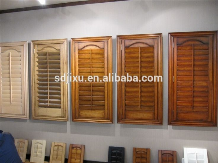2017 New Style With High Quality Unfinished Interior Wooden Shutters From  China