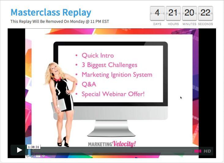 Marketing Masterclass #marketingvelocity Download your free marketing resources here: www.moniqueparker.com