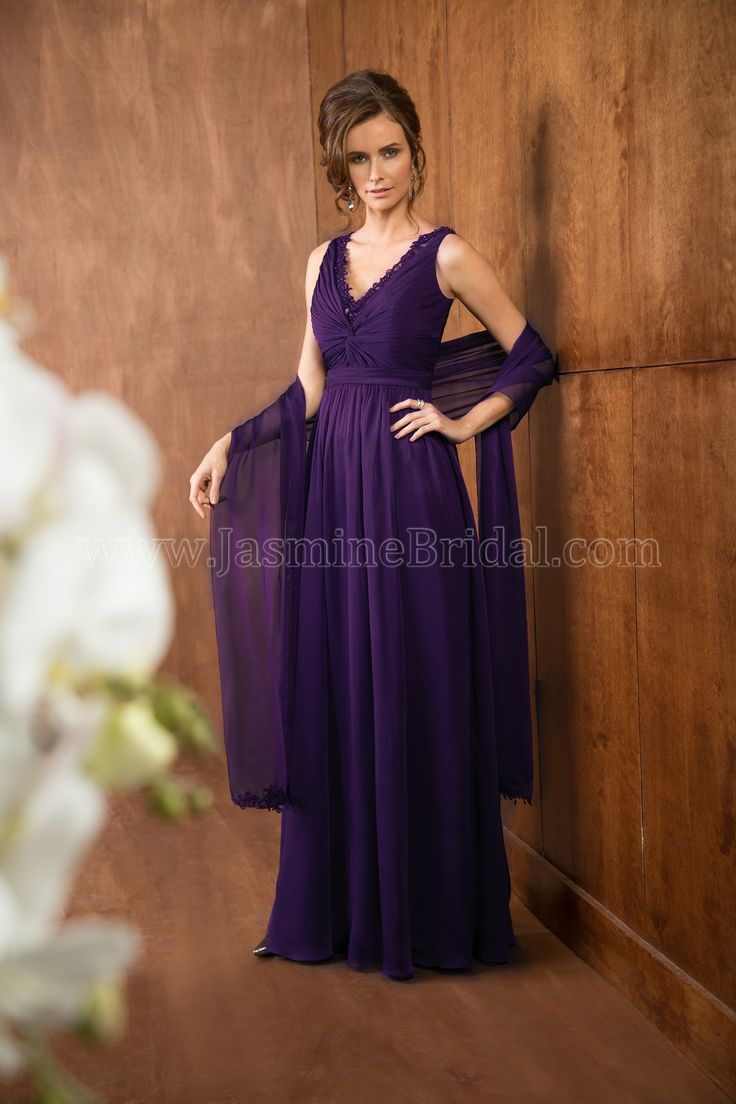 126 best bridesmaids images on pinterest bridesmaids wedding latest v neck floor length purple chiffon mother of the bride dress with wrap ombrellifo Gallery